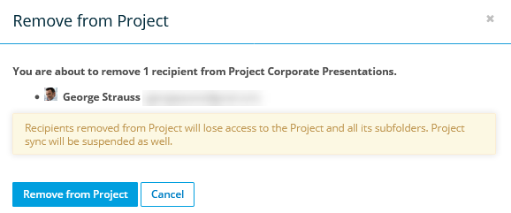 Manage Project, Folder, and File Team Shares