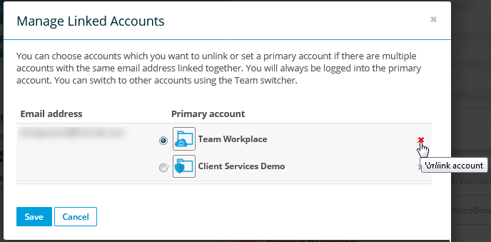 Manage Multiple Linked Accounts
